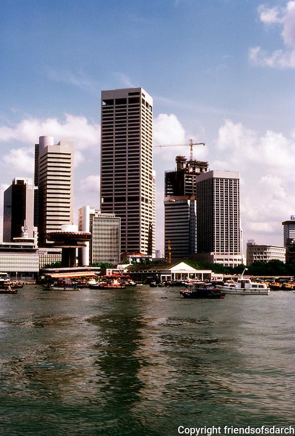 Singapore: Harbor skyline. Photo '83.