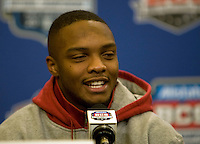 Alabama wide receiver Marquis Maze talks with the reporters during the Alabama Offensive Press Conference at Marriott Hotel at the Convention Center on January 5th, 2011.