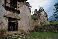 A view of Drukgyal Dzong, which was a Fortress and Buddhist monastery, now in ruins, located in the upper part of the Paro valley in Paro District of Bhutan. The Dzong was probably built by Tenzin Drukdra in 1649 at the behest of Shabdrung Ngawang Namgyal to comemorate victory over an invasion from Tibet. In the early 1950's Drukgyal Dzong was almost completly destroyed by fire. Arindam Mukherjee..