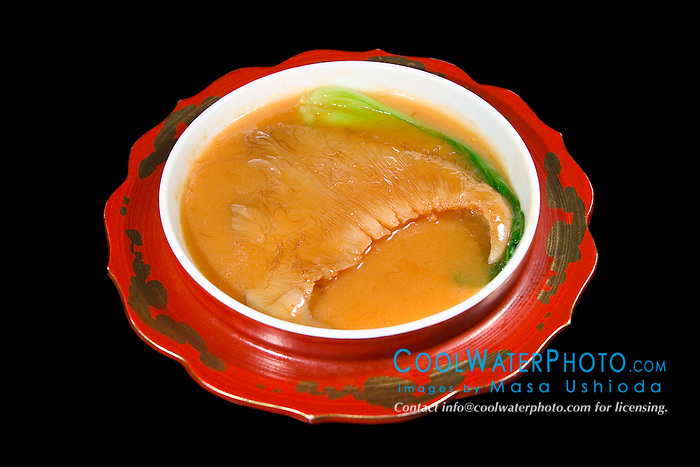 shark fin stew, made of juvenile blue shark fins, Prionace glauca, one of the most expensive Chinese cuisine, Tokyo, Japan