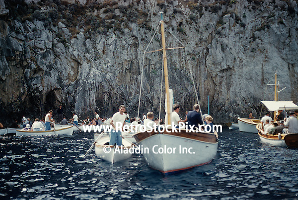 People on boats, Positano, Sorrento