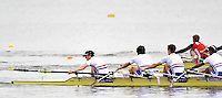 Brandenburg, GERMANY,  BLM4X- Repechage,  GBR BLM4X, Bow Henry Chin, Nicholas FAIRHEAD, Bob HEWITT and Christopher BODDY, 2008 FISA U23 World Rowing Championships, Friday, 18/07/2008, [Mandatory credit: Peter Spurrier Intersport Images]..... Rowing Course: Brandenburg, Havel Rowing Course, Brandenburg, GERMANY