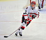 2 January 2009: St. Lawrence Saints' defenseman Zach Miskovic, a Senior from River Forest, IL, in action against the Ferris State Bulldogs in the first game of the 2009 Catamount Cup Ice Hockey Tournament hosted by the University of Vermont at Gutterson Fieldhouse in Burlington, Vermont. The Saints defeated the Bulldogs 5-4 to move onto the championship game against the University of Vermont Catamounts...Mandatory Photo Credit: Ed Wolfstein Photo