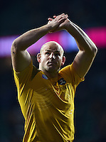Stephen Moore of Australia acknowledges the crowd after the match. Rugby World Cup Quarter Final between Australia and Scotland on October 18, 2015 at Twickenham Stadium in London, England. Photo by: Patrick Khachfe / Onside Images