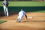 Ole Miss' Senquez Golson (7) steals second base vs. Arkansas State in baseball action at Oxford-University Stadium in Oxford, Miss. on Tuesday, February 21, 2012. Ole Miss won the home opener 8-1 to improve to 2-1 on the season. Arkansas State dropped to 0-3.