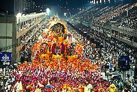 Rio de Janeiro Carnival, Samba Schools Parade in Sambodromo, Brazil.