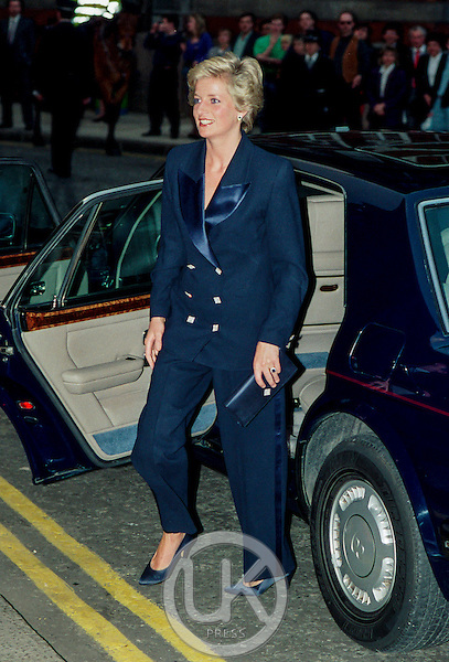 itLONDON,  UNITED KINGDOM   APRIL 29   Diana Princess of Wales attends a Charity Concert, at The Royal Albert Hall, on April 29, 1990  in London, United Kingdom. (Photo by Julian Parker/UK Press via Getty Images)