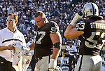 Oakland Raiders defensive tackle John Parrella (97) on Sunday, November 3, 2002, in Oakland, California. The 49ers defeated the Raiders 23-20 in an overtime game.