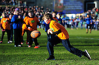 Half-time entertainment courtesy of Jaffa Fruit. Aviva Premiership match, between Bath Rugby and London Irish on March 5, 2016 at the Recreation Ground in Bath, England. Photo by: Patrick Khachfe / Onside Images