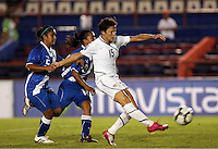 Megan Rapinoe of USA shoots at the 2010 CONCACAF Women's World Cup Qualifying tournament held at Estadio Quintana Roo in Cancun, Mexico.