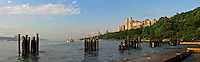 79th Street Boat Basin, Riverside Park on the Upper West Side, Manhattan, New York City, New York, USA designed by Frederick Law Olmsted