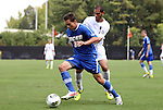 04 September 2011: UCSB's James Kiffe (20) and NCSU's Nader Jaibat (behind). The University of California Santa Barbara Broncos defeated the North Carolina State University Wolfpack 1-0 at Koskinen Stadium in Durham, North Carolina in an NCAA Division I Men's Soccer game.