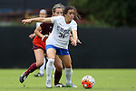 04 October 2015: Duke's Christina Gibbons. The Duke University Blue Devils hosted the Virginia Tech Hokies at Koskinen Stadium in Durham, North Carolina in a 2015 NCAA Division I Women's Soccer match. Virginia Tech won the game 4-2.