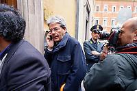Roma  23 Aprile 2013.Si riunisce  la direzione nazionale del Partito Democratico. Paolo Gentiloni