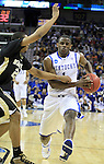 Sophomore guard Darius Miller goes in for a lay up during the first half of the UK men's basketball against Wake Forest for the second round of the NCAA tournament at New Orleans Arena on Saturday, March 20, 2010. The Cats were up on the Deacs 44-28 at the half. Photo by Adam Wolffbrandt | Staff