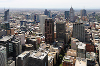 Aerial views of Melbourne CBD.<br />