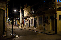 Nightime street scene. Santiago del Cuba. 7-12-10 The city from above.