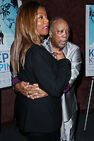 LOS ANGELES, CA, USA - SEPTEMBER 17: Queen Latifah, Quincy Jones arrive at the Los Angeles Premiere Of RADiUS-TWC's 'Keep On Keepin' On' held at the Landmark Theatre on September 17, 2014 in Los Angeles, California, United States. (Photo by Xavier Collin/Celebrity Monitor)