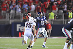 Ole Miss' Zack Stoudt (8) passes at Vaught-Hemingway Stadium in Oxford, Miss. on Saturday, September 10, 2011.