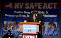 Rev. Jacque DeGraff  take part during a rally against gun violence in Harlem March 21, 2013 in New York City . VIEWpress/ Kena Betancur.