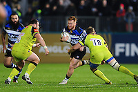 Rory Jennings of Bath Rugby goes on the attack. Anglo-Welsh Cup match, between Bath Rugby and Leicester Tigers on November 4, 2016 at the Recreation Ground in Bath, England. Photo by: Patrick Khachfe / Onside Images