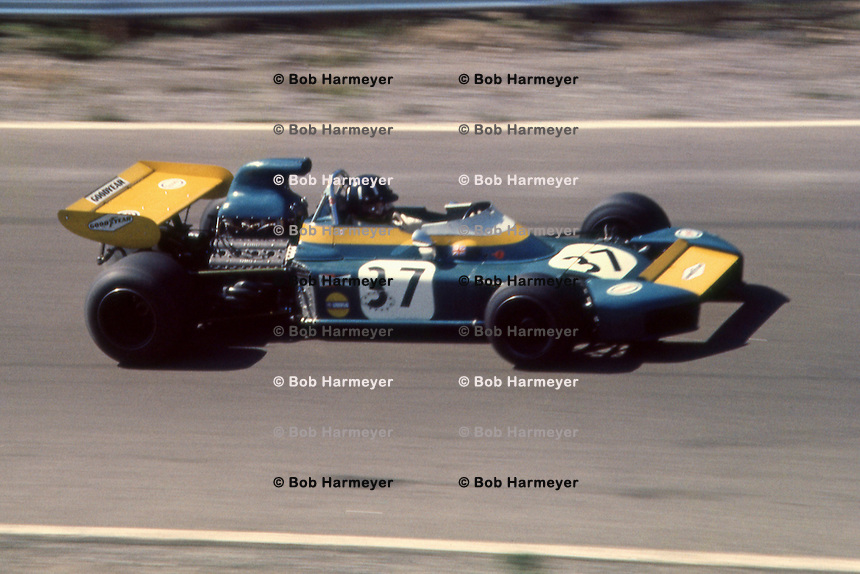 BOWMANVILLE, ONT - SEPTEMBER 19: Graham Hill drives the Brabham BT34 1/Ford Cosworth in the Canadian Grand Prix at Mosport Park near Bowmanville, Ontario, Canada, on September 19, 1971.