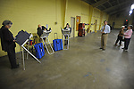 Voters cast their ballots at the old National Guard Armory in Oxford, Miss. on Tuesday, November 8, 2011. Mississippians go to the polls today for state and local elections, as well as referendums including the so-called Personhood Amendment.