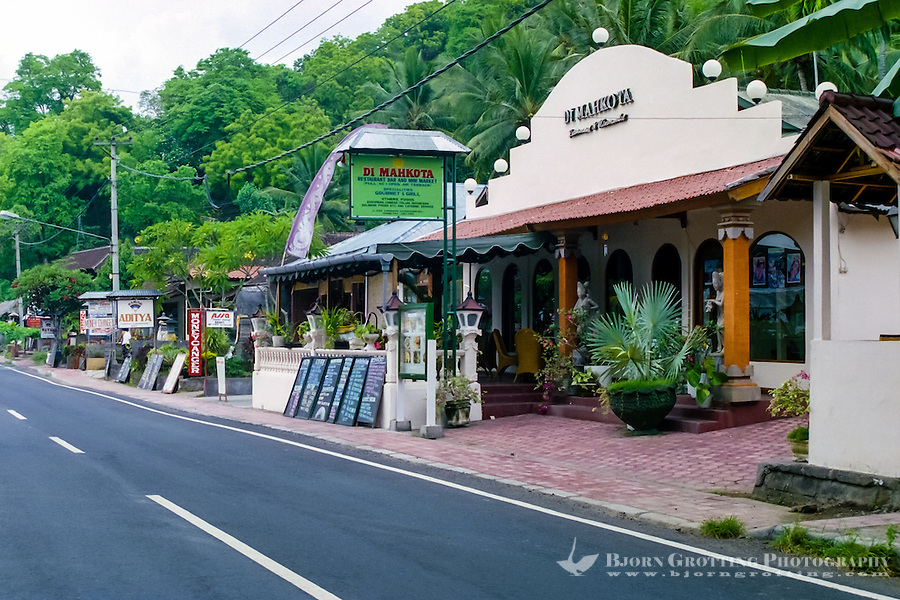Bali, Karangasem, Candidasa. Most of the tourist facilities is located along the road from Semarapura to Amlapura.