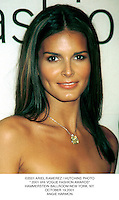 "©2001 ARIEL RAMEREZ / HUTCHINS PHOTO."" 2001 VHI VOGUE FASHION AWARDS"".HAMMERSTEIN BALLROOM NEW YORK. NY..OCTOBER 19,2001.ANGIE HARMON"