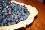 Fresh Maine blueberries ready to bake in pie crust