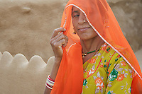 Women from a Traditional Village near Manvar on the way to Jaisalmer, Rajasthan India