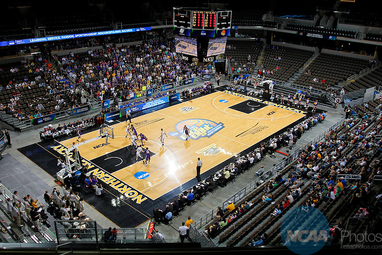 24 MAR 2012:  Western Washington University takes on the University of Montevallo during the Division II Men's Basketball Championship held at the Bank of Kentucky Center in Highland Heights, KY. Western Washington won the title 72-65.  Joe Robbins/NCAA Photos