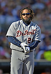 29 September 2012: Detroit Tigers first baseman Prince Fielder in action against the Minnesota Twins at Target Field in Minneapolis, MN. The Tigers defeated the Twins 6-4 in the second game of their 3-game series. Mandatory Credit: Ed Wolfstein Photo
