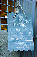 Emporio Del Sale restaurant menu in Via Dell Anfiteatro off Via Fillungo in Lucca, Italy