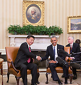 China's President XI Jinping and United States President Barack Obama hold a meeting during an  official State Visit at the White House in Washington, DC on Friday, September 25, 2015.<br /> Credit: Chris Kleponis / Pool via CNP