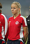 06 August 2008: Gunhild Folstad (NOR).  The women's Olympic team of Norway defeated the United States women's Olympic soccer team 2-0 at Qinhuangdao Olympic Center Stadium in Qinhuangdao, China in a Group G round-robin match in the Women's Olympic Football competition.