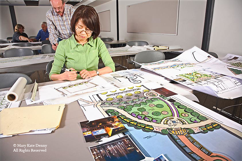 Female asian works on landscape design mary kate denny for Landscape design paper