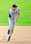 25 July 2010: Tri-City ValleyCats infielder Jacke Healey in action against the Vermont Lake Monsters at Centennial Field in Burlington, Vermont. The ValleyCats came from behind to defeat the Lake Monsters 10-8 in NY Penn League action. Mandatory Credit: Ed Wolfstein Photo