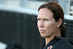 17 September 2016: Boston College head coach Alison Foley. The Duke University Blue Devils hosted the Boston College Eagles at Koskinen Stadium in Durham, North Carolina in a 2016 NCAA Division I Women's Soccer match. Duke won the game 3-2.