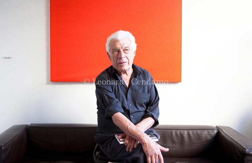 John Berger, jornalist, pittore, critico d\'arte, writer, poeta e sceneggiatore, Mntova 2010;  © Leonardo Cendamo