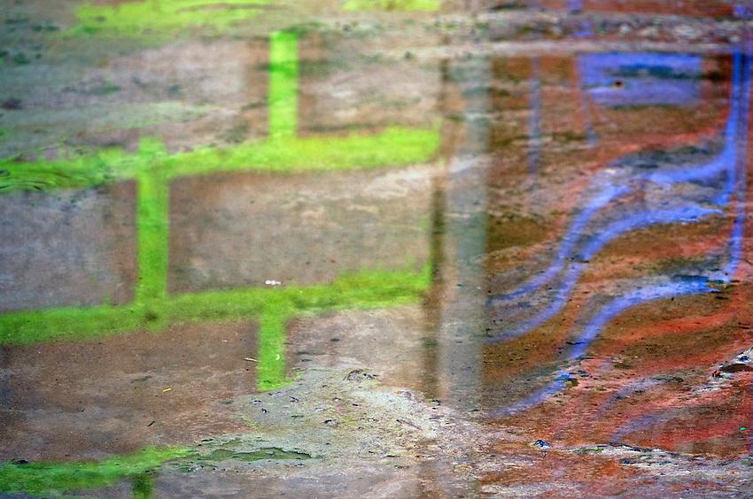 Water reflection, Graffiti in Mui Ne, Vietnam