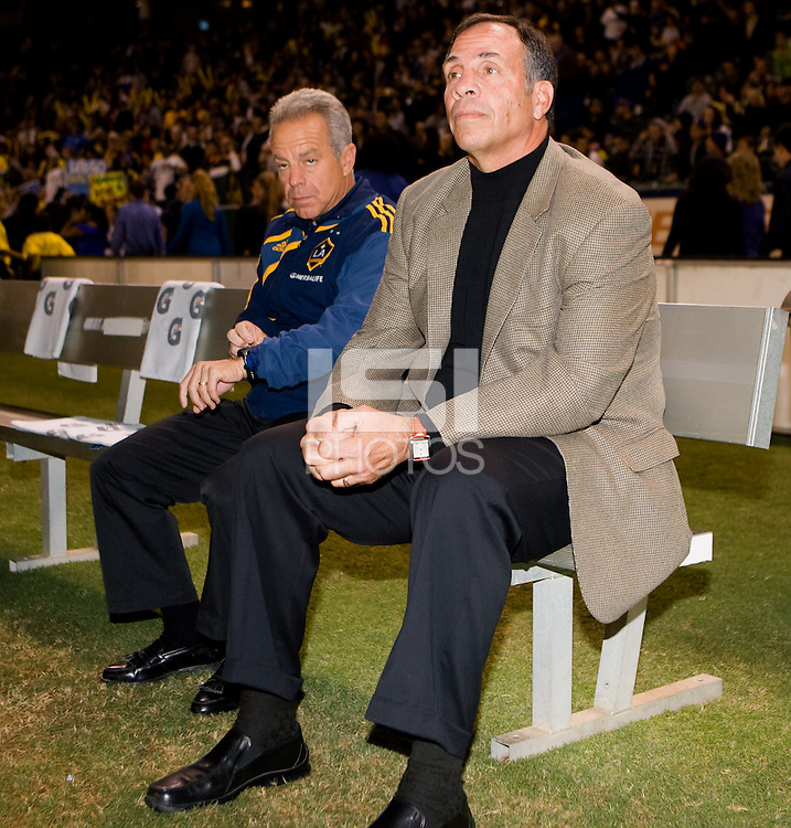 Bruce Arena (r) LA Galaxy head coach and Assistant Dave Sarachan (l). The LA Galaxy defeated the Houston Dynamo 2-1 to win the MLS Western Conference Final at Home Depot Center stadium in Carson, California on Friday November 13, 2009.....