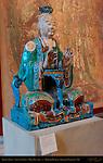 Daoist Deity, Yuan Shi Tian Zun, Primal Celestial Excellency, Shanxi Province China, Ming Dynasty c. 1488-1644, Polychrome Stoneware, British Museum, London, England, UK