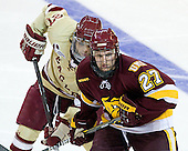 Quinn Smith (BC - 27), David Grun (Duluth - 27) - The Boston College Eagles defeated the University of Minnesota Duluth Bulldogs 4-0 to win the NCAA Northeast Regional on Sunday, March 25, 2012, at the DCU Center in Worcester, Massachusetts.
