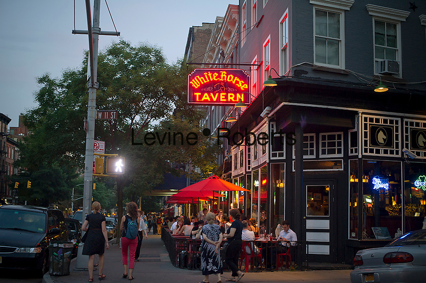 The White Horse Tavern on Hudson Street in West Greenwich Village where Dylan Thomas drank, seen on Wednesday, August 8, 2012. (© Frances M. Roberts)