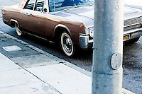 United States; North America; America; California; San Francisco Bay Area, Driver, Lincoln, vintage, street