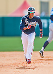 14 March 2016: Atlanta Braves outfielder Mallex Smith, ranked the Number 11 Top Prospect in the Braves organization for 2016 by MLB and Number 10 by Baseball America, in action during a Spring Training pre-season game against the Tampa Bay Rays at Champion Stadium in the ESPN Wide World of Sports Complex in Kissimmee, Florida. The Braves shut out the Rays 5-0 in Grapefruit League play. Mandatory Credit: Ed Wolfstein Photo *** RAW (NEF) Image File Available ***