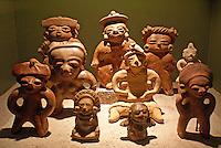 Pre-Columbian ceramic clay figurines in the Museo Nacional de Antropologia David J. Guzman in San Salvador, El Salvador
