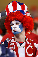 7 June 2011: USA fan with face pant during the CONCACAF soccer match between USA and Canada at Ford Field Detroit, Michigan. USA won 2-0.