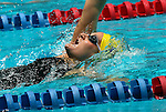 24 MAR 2012:  Anne Culpepper of Emory swims in the 200 yard backstroke event during the Division III Mens and Womens Swimming and Diving Championship held at the IU Natatorium in Indianapolis, IN.  Culpepper finished fourth with a time of 2:00.11. Michael Hickey /NCAA Photos